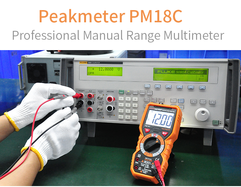 6000 counts HFE Digital Multimeter PM18C with True RMS AC/DC Voltage Resistance Capacitance Frequency Temperature NCV Tester
