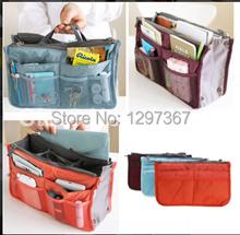 make up bag New Fashion Large Dual Organizer Mp3 Phone Cosmetic Book Storage Nylon Bag Handbag Purse Women X01