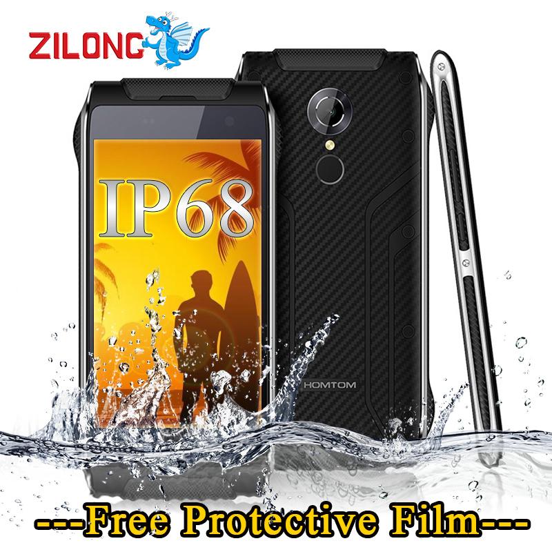 Original HOMTOM HT20 Waterproof Shockproof Mobile Phone MT6737 Quad Core 2G RAM 16G ROM 3500mAh 8MP Fingerprint 4G Smartphone(China (Mainland))