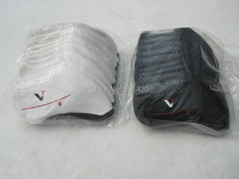 VR design Golf Irons Covers headcover protector NK brand Golf irons 10pcs/set Black or White Color(China (Mainland))