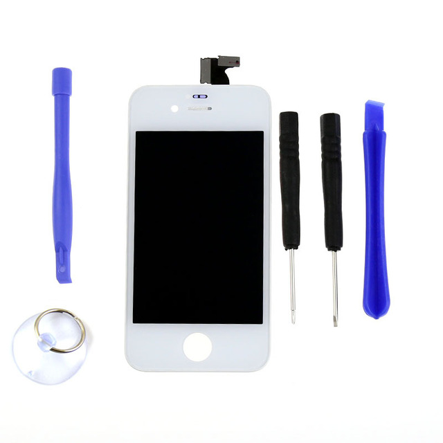 Free Shipping LCD Digtizer Touch Display Screen Assembly Glass Parts Replacement Free Tools For iPhone 4 4G