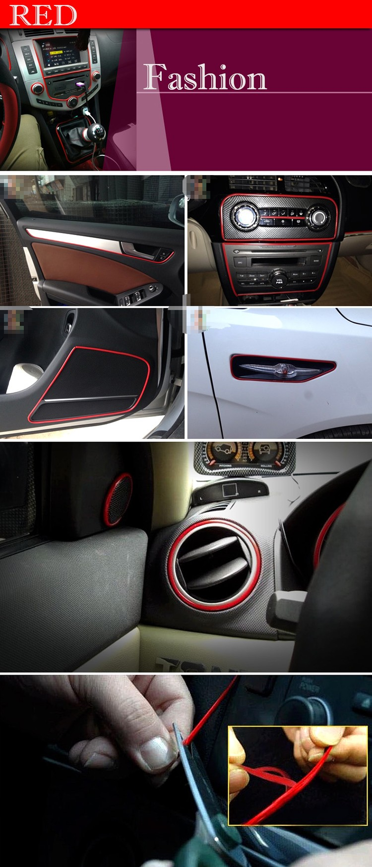 5m Car Exterior Accessories Decoration Car Stickers Modify Car Styling Indoor Re Ebay
