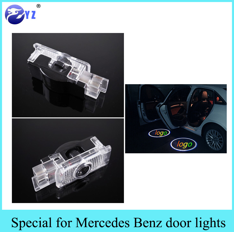 2 pcs car styling led door welcome light laser projector for Mercedes benz door lights