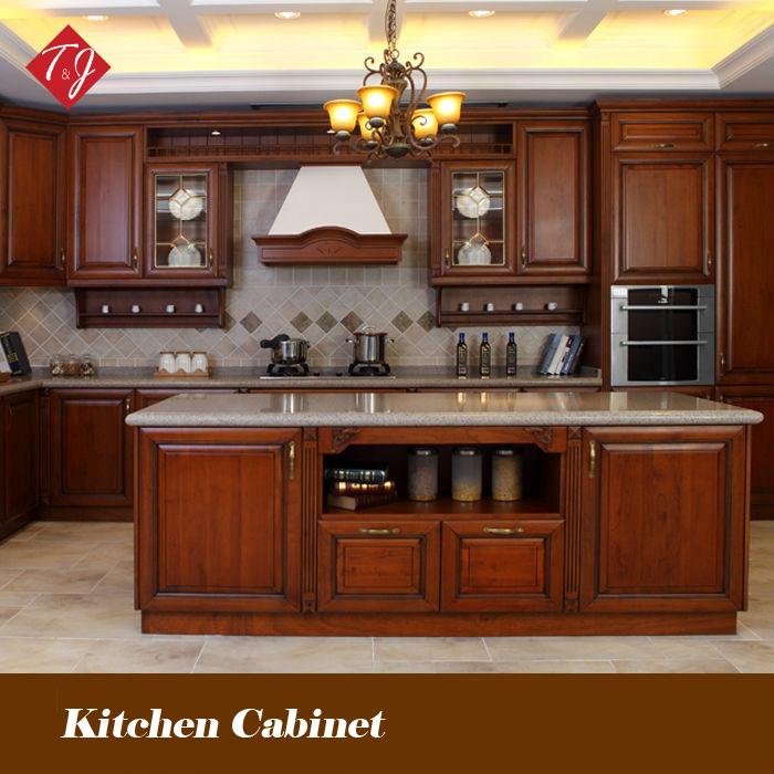 equipado de madera decorosa gabinetes de cocina gabinetes de cocina