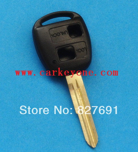 New replacde 2 button key shell with TOY41 blade case for Toyota Yaris Corolla RAV4 / car key blank+ wholesale and retail(China (Mainland))