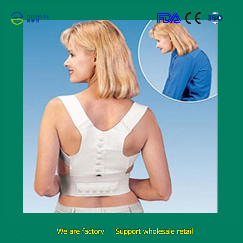 Adjustable Magnetic Posture Back Support Corrector Belt for Back Pain Relife Brace Shoulder Braces & Supports for Sport Safety(China (Mainland))