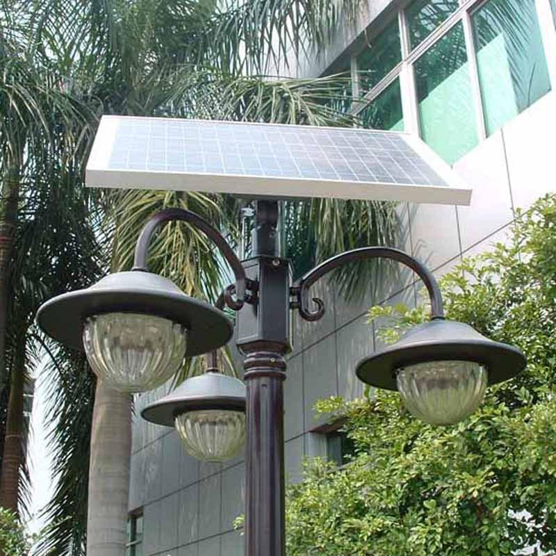 St3x4w solar street light solar garden lamp for Tall landscape lights