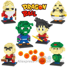 Dragon Ball Action Mini Figure ABS Diamond Building Blocks models 6 style Kakarot Son Goku
