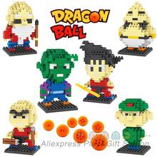 Dragon Ball Action Mini Figure ABS Diamond Building Blocks models 6 style Kakarot Son Goku