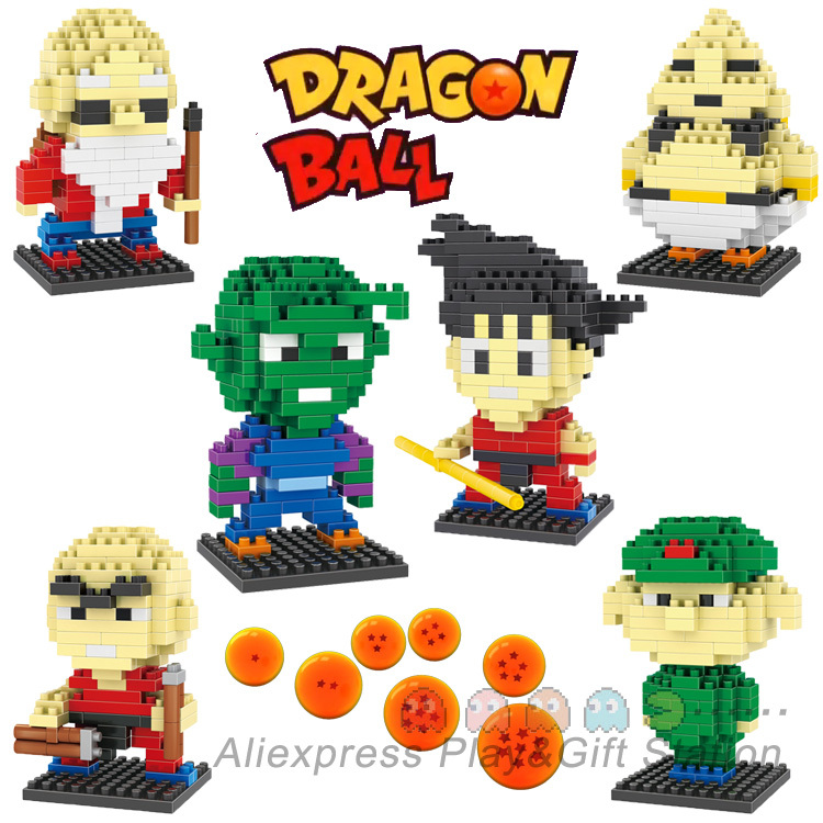 Dragon Ball Action Mini Figure ABS Diamond Building Blocks models 6 style Kakarot Son Goku(China (Mainland))