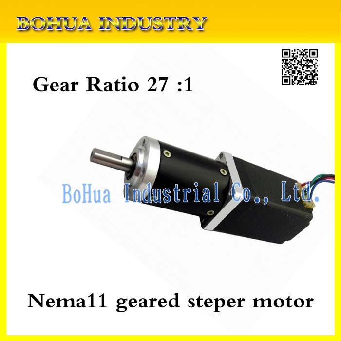 New Best Gear ratio 27:1 Planetary Gearbox stepper motor Nema 11 Geared Stepper Motor 3d printer stepper motor(China (Mainland))
