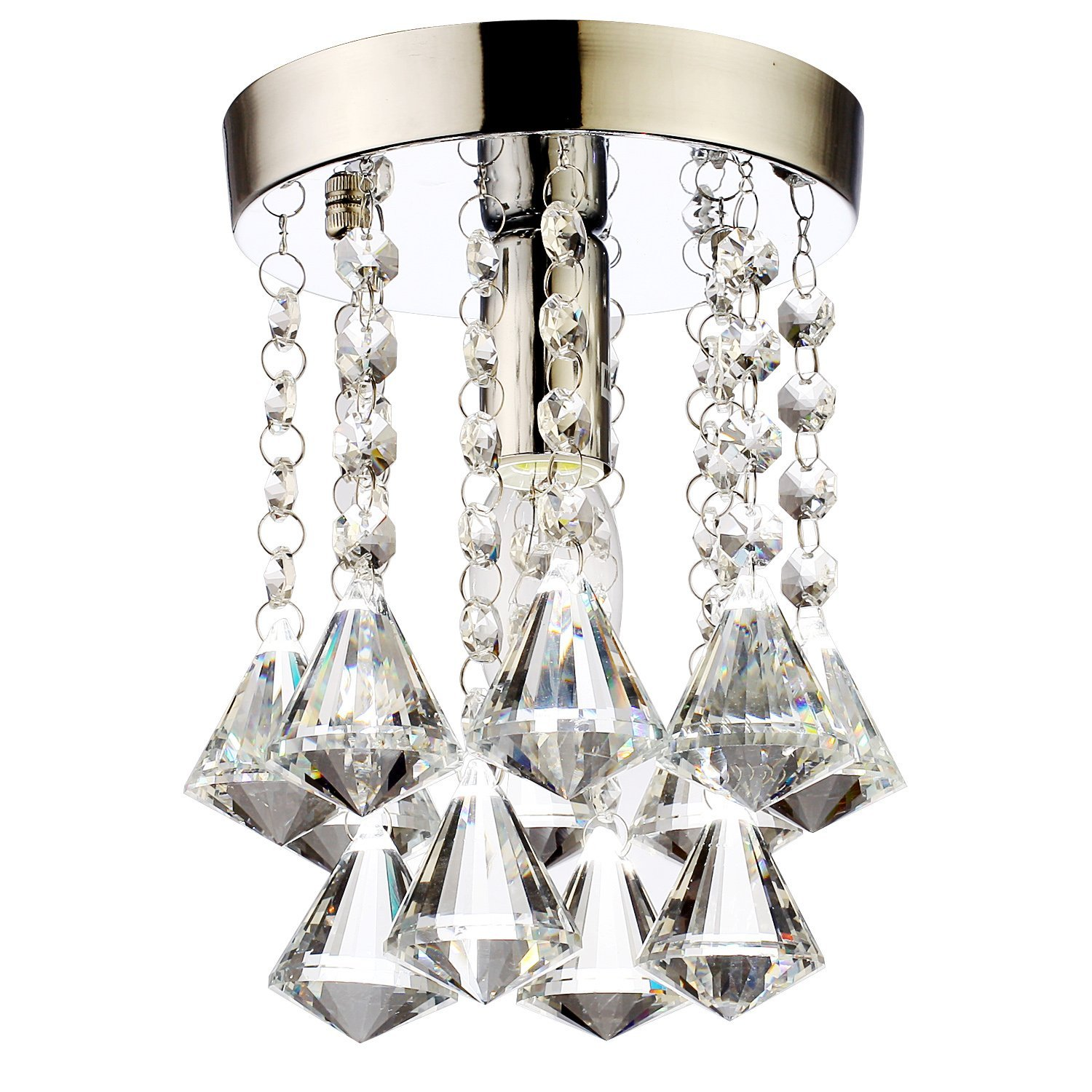 Modern LED crystal chandeliers crystal pendant lamp Aisle lights Mini Modern Chandelier Rain Drop Lighting K9 Crystal 110V-260V(China (Mainland))