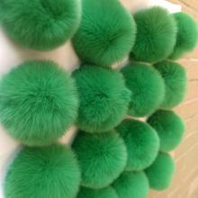 6 CENTÍMETROS Pompom Fofo Coelho Keychain Pom Pom Lâmpada Saco de mulher Porte Cleff Bugiganga Natural Bola de Cabelo de Coelho Rex Reais lã de Pêlo Chaveiros(China)
