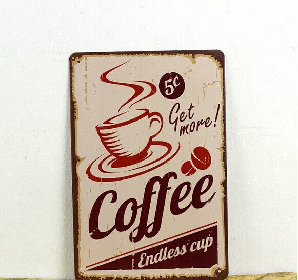 Coffee painting item Tin Sign Bar pub home Wall Decor Retro Metal Art Poster for beer bar painting