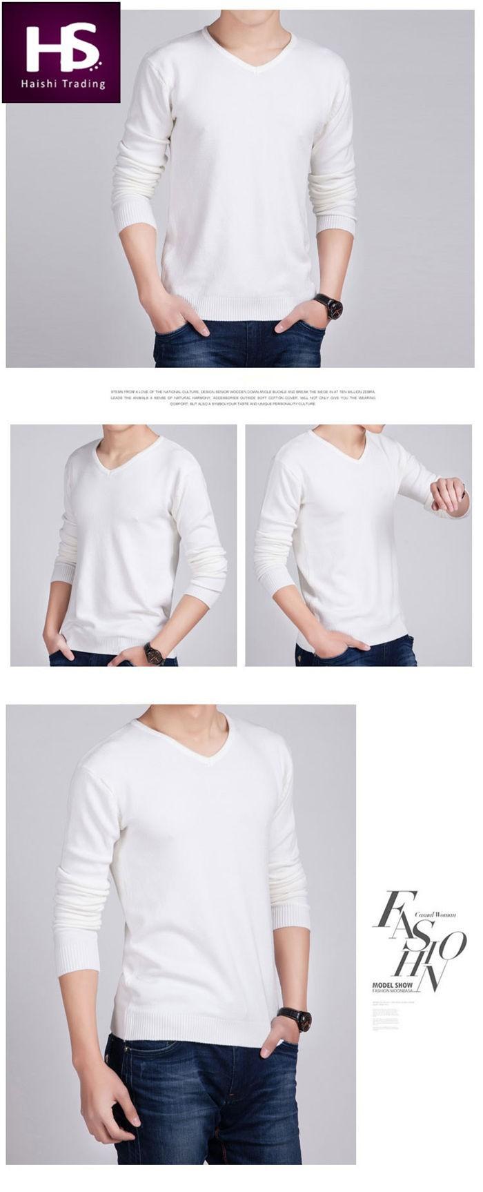 пуловер мужской с v-образным вырезом фото