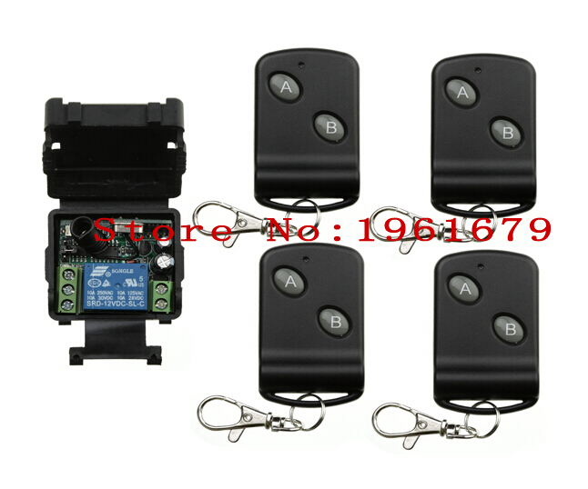 DC 12 v 1CH mini wireless remote control switch Learning code 315MHZ 1 piece receiver+4 piece transmitter(China (Mainland))