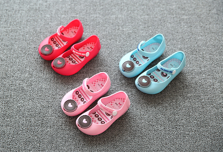 Free Shipping Summer Sweet Candy Heart Children's Shoes Cute Children's Sandals Rain Boots(China (Mainland))