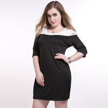 Buy Hot Women Work Dress XXXL Plus Size Women Clothing 5xl Summer Half Sleeve Large Size Clothes Open Shoulder O neck Dresses 6XL for $24.51 in AliExpress store