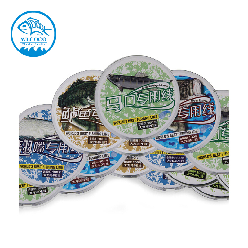 Mix Fishing Line For Kinds Of Fish 1.5#,0.6#,1.0#,2.0#,6.0#, Sinking Line Green PE Barbid Wire For Fishing(China (Mainland))