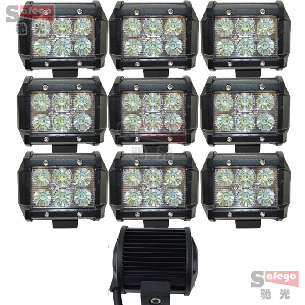 2pcs tractor truck off-road SUV LED offroad 4inch 18W cree led work light cree 18W led working lights fog driving lamp