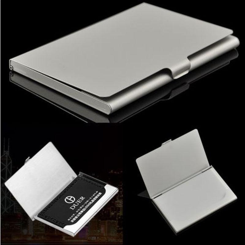 1 pc Waterproof Business Card Storage Box Aluminum Metal