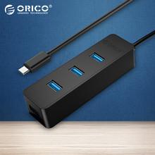 ORICO W5PH4-C3 USB 3.0 4 Port Type-C Hub 5Gbps High Speed for Laptop Computer Phone Tablet Ultrabook - Black / White