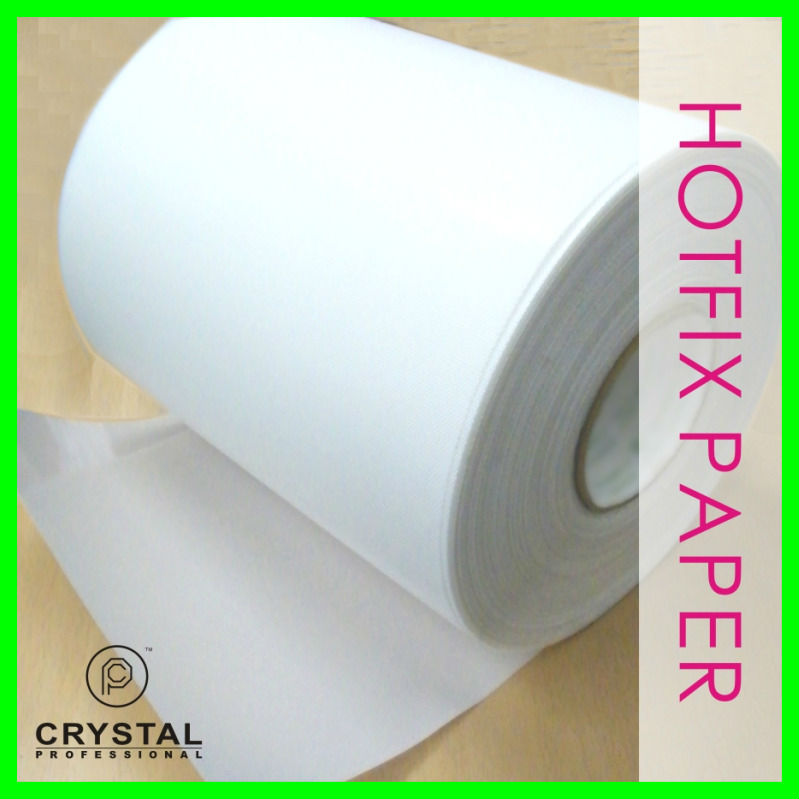 1 feet x 9.5 Inch Hot-fix Transfer Film Mylar Tape Paper Hotfix Rhinestones Iron On Applicator Crystal Nail design DIY Tools(Hong Kong)