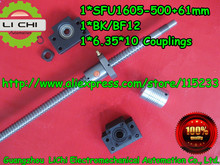 1ps Ball screw RM1605-L562mm (500mm +62mm machining parts)+SFU1605 Ballnut CNC,1set BK/BF12 processing 6.35 * 8 Coupling - Guangzhou LiChi Electromechanical Automation Co., Ltd. store