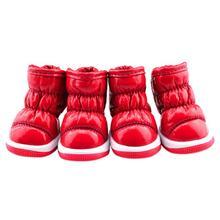 Cilt dostu Pet köpek çizmeleri Kat Tasarım Köpek Ayakkabı Deri köpek ayakkabıları Kış Sıcak Ürün Soğuk Köpek Ayakkabı(China)