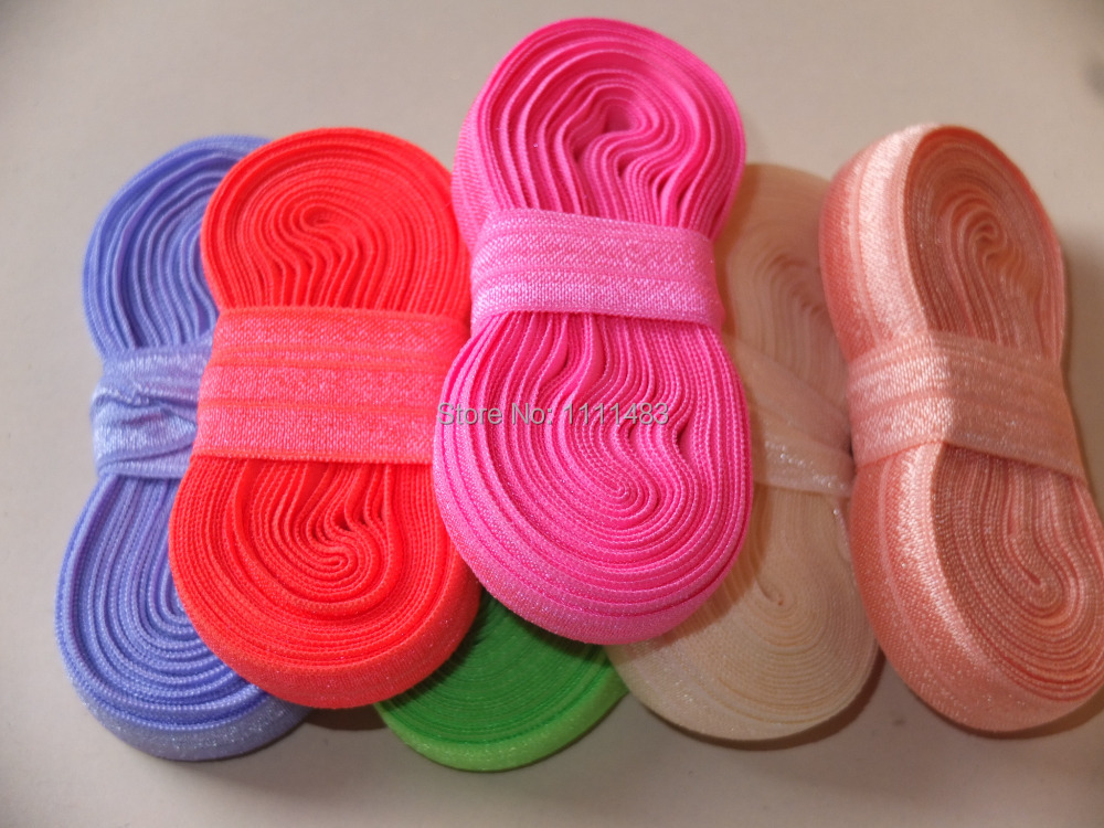 5/8″ 16mm FOE, Fold over elastic, 5 yards per bundle, 80 colors for your choice