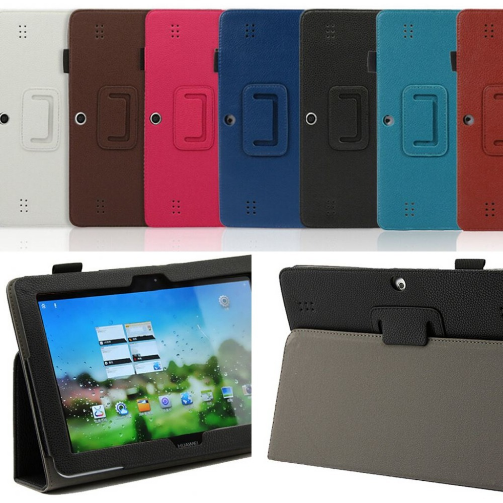 Free Shipping huawei Mediapad 10 link Stand case for Huawei MediaPad 10 FHD tablet PU cover case +gift screen protector + pen(China (Mainland))