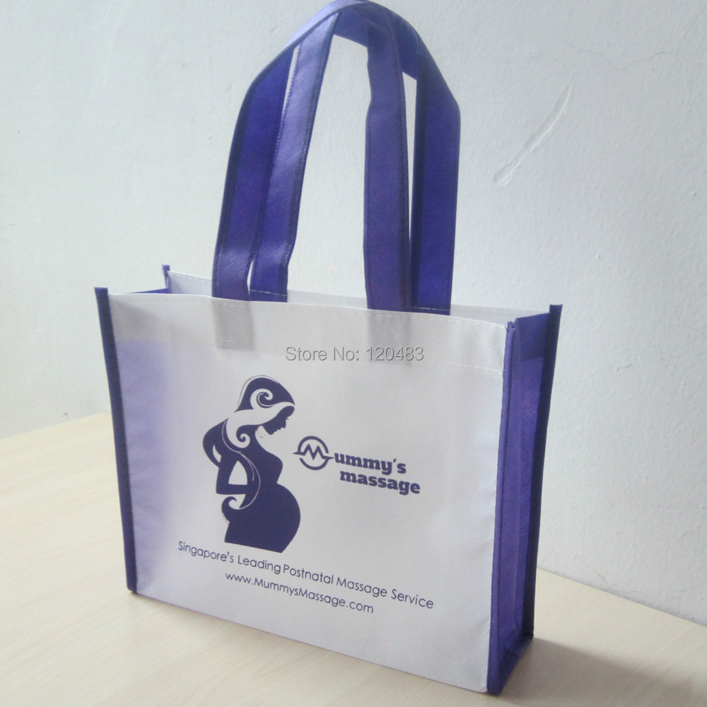 factory sale new non woven bag with printing,pp non woven shopping bag ,promotional bag,500pcs/lot20*25*8cm(China (Mainland))