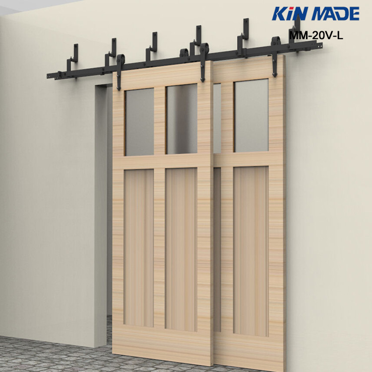 Popular sliding barn door rollers buy cheap sliding barn for Double sliding doors