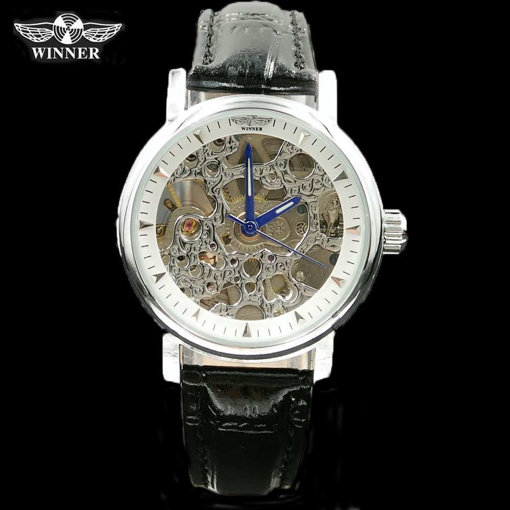 Watches Women Automatic Watches Luxury Top Brand WIINER Mechanical Skeleton Watches Ladies Transparent Watches(China (Mainland))