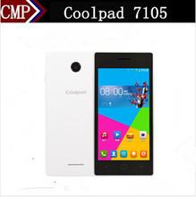 Original Coolpad 7105 4G LTE Mobile Phone Snapdragon 410 Quad Core Android 4.4 4.5 Inch 854x480 512MB RAM 4GB ROM Dual Sim(China (Mainland))