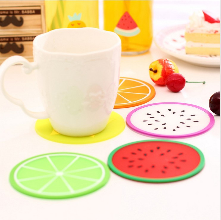 Fruit Shape Antiskid heat Insulation Coaster Creative Home Kitchen Bowl Mats Placemat Table Mat Cup Mat Meal Pad. Free Shipping(China (Mainland))
