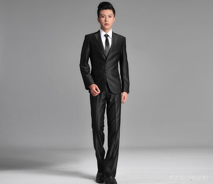Online Get Cheap Men Slim Fit Suits Black -Aliexpress.com ...