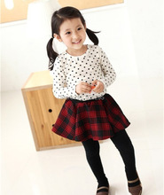 Toddler Baby Girls Polka Dot Casual Long Sleeve Cotton T-shirt Tops