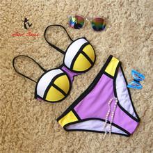 Bikini 2016 Sexy Swimwear Women Push Up Bikinis Set Low Waist Swimsuit Bathing Suit Maillot De Bain Biquini B053(China (Mainland))