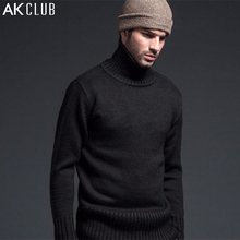 AK CLUB Brand Sweater Men Woolen Sweater 1KG Weight Flying Tigers Wool Blend Classic Label Turtle-Neck Men Wool Sweater 1203003(China (Mainland))