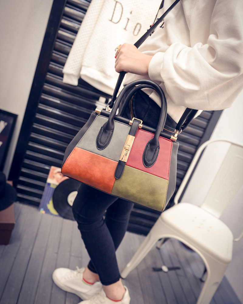 Women Fashion Patchwork Handbag Doctor Shoulder Bag free shipping<br><br>Aliexpress