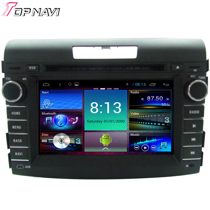 Top 7'' Quad Core Android 4.4.4 Car Stereo For CRV 2012 For Honda With GPS Map Radio Audio Video DVD Mirror Link Free Shipping(China (Mainland))