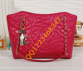 NEW ARRIVAL rose pattern Real Leather lady bag