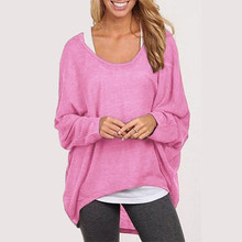 2016 Spring Autumn Women Sweater Jumper Pullover Batwing Long Sleeve Casual Loose Solid Blouse Shirt Tops Plus Femininas Blusas(China (Mainland))