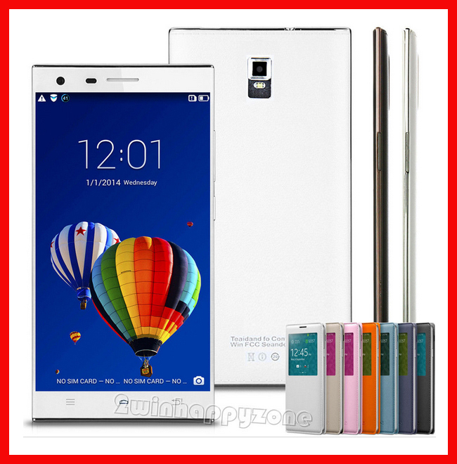 """5.5"""" Inch Android Smartphone Mobile Cellphone MTK6572 Dual Core Big Screen ROM 4GB Unlocked Dual SIM 3G/WCDMA WIFI GPS Case(China (Mainland))"""