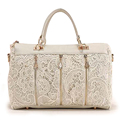 2016 New fashion Women Korean Style Lace Satchels Handbags Crossbody bags Lady s PU bags Black