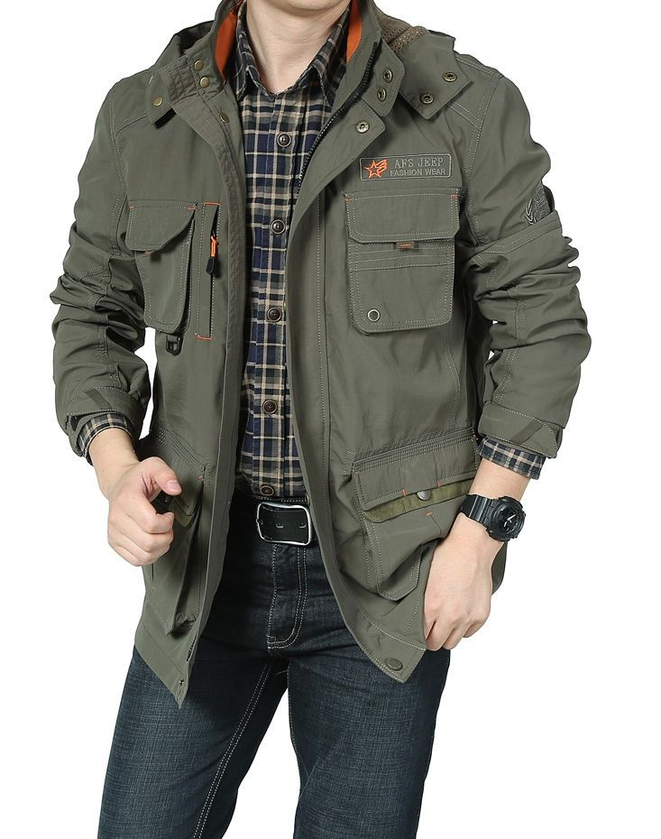 White Military Style Jacket Jacket Military Style Men