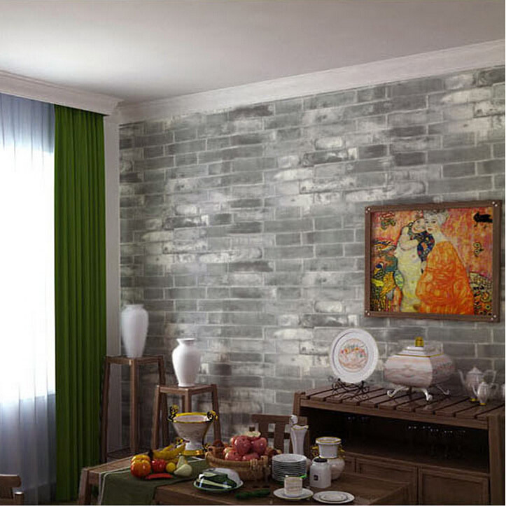 backstein tapete wohnzimmer:Stone Brick Wall Living Rooms