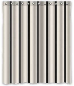 Online get cheap black and white striped shower curtain - Rideau de douche noir et blanc ...