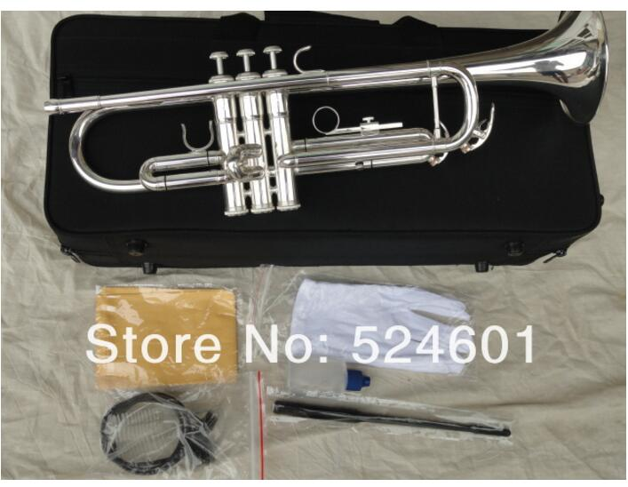 Professional Bach Trumpet Selling Customized Type Small Trompeta Brass Instruments Surface Silver Plated Bb Trumpete YTR-1335(China (Mainland))